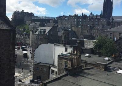 Edinburgh Castle View from Apartment