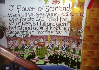 Belford FLower of Scotland Mural