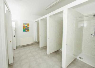 Malones hostel showers